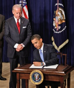 President Obama Signs His First Presidential Orders