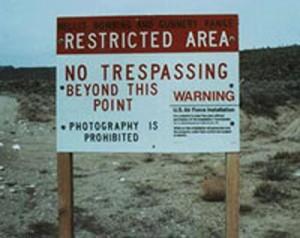 Area 51 No Trespassing Sign