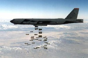 B52 Bomber Dropping Payload